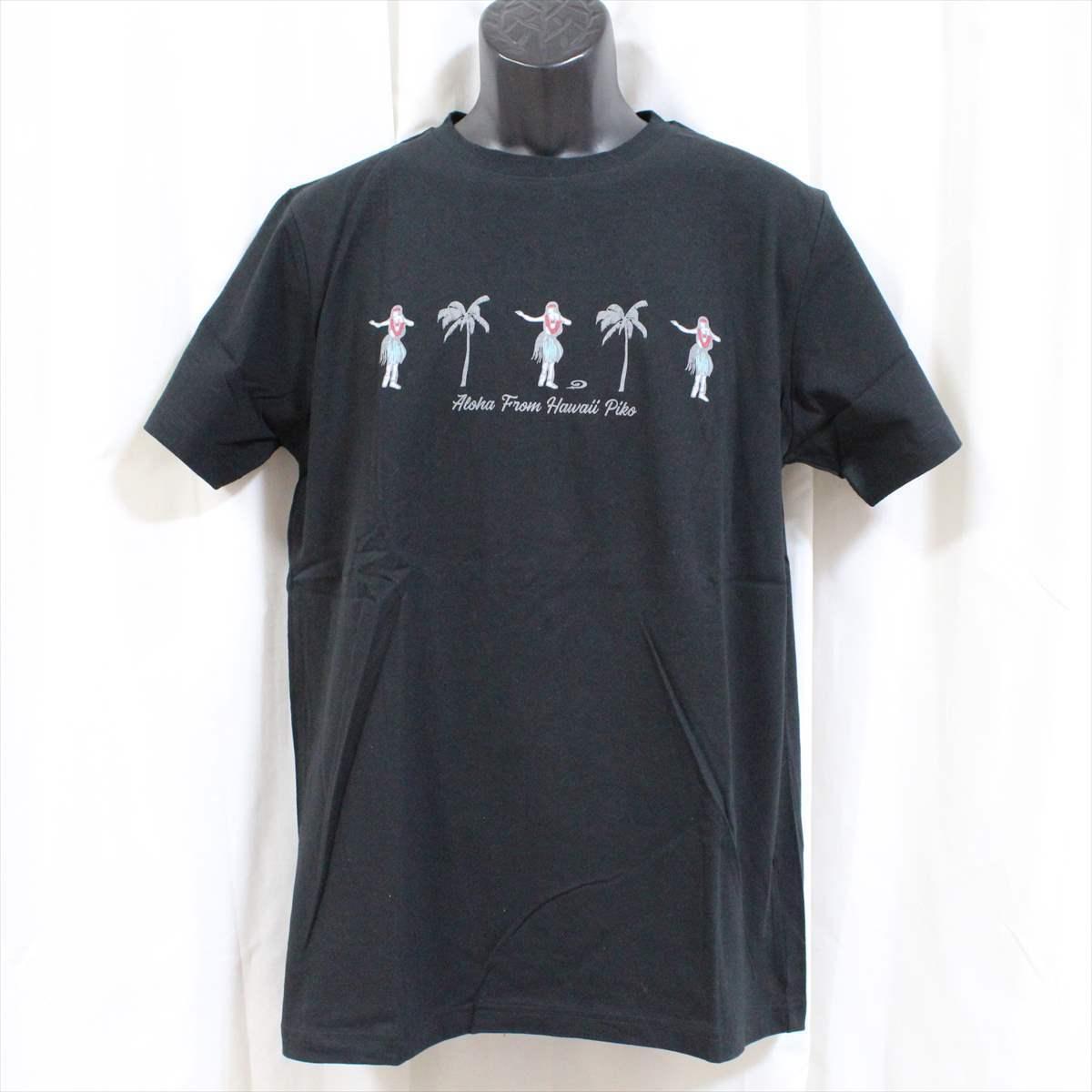 ピコ PIKO メンズ半袖Tシャツ ブラック Lサイズ 新品 黒 HAWAIIAN LONGBOARD WEAR_画像1