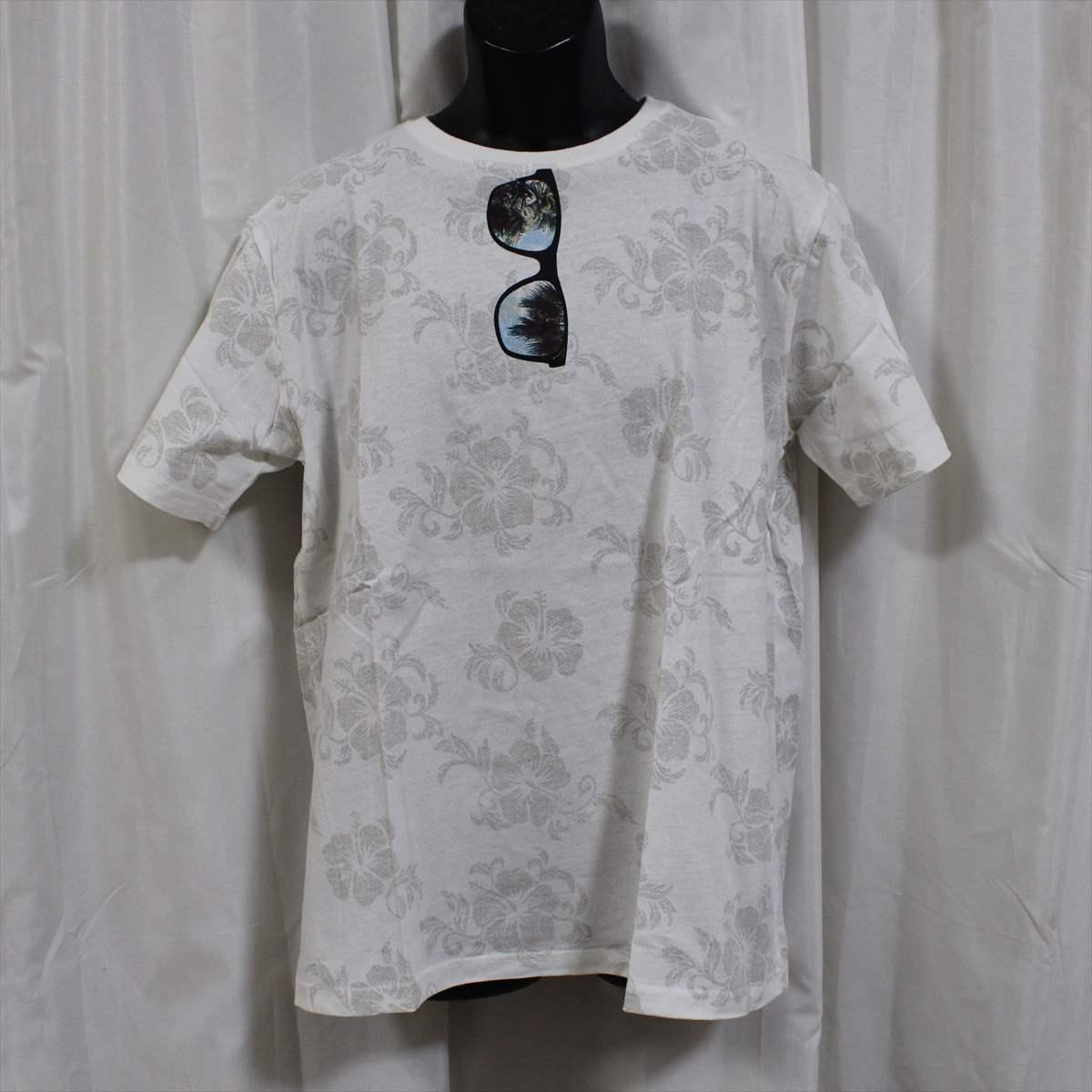 ピコ PIKO メンズ半袖Tシャツ ホワイト Lサイズ 新品 HAWAIIAN LONGBOARD WEAR 白_画像1