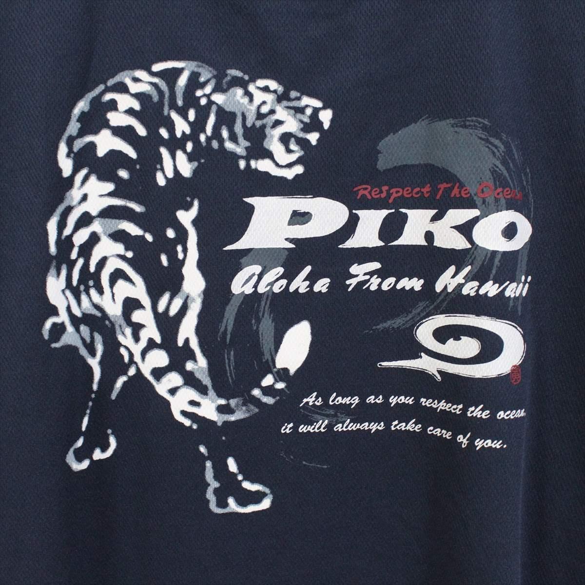 ピコ PIKO メンズ半袖メッシュTシャツ ネイビー XLサイズ 新品 HAWAIIAN LONGBOARD WEAR 紺_画像4