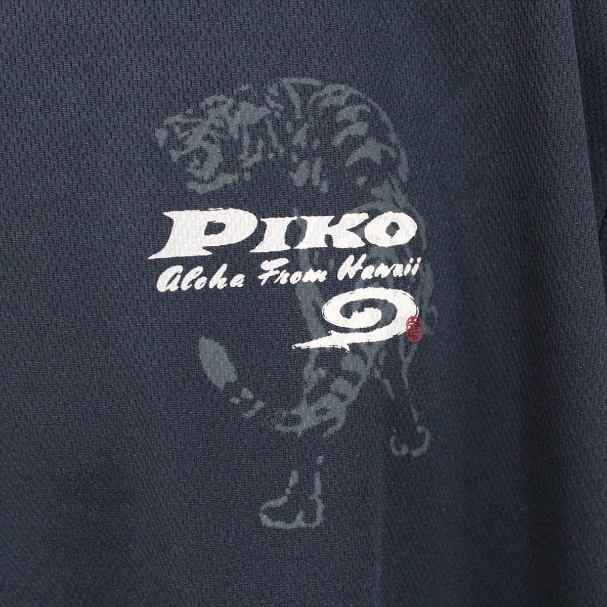 ピコ PIKO メンズ半袖メッシュTシャツ ネイビー XLサイズ 新品 HAWAIIAN LONGBOARD WEAR 紺_画像2
