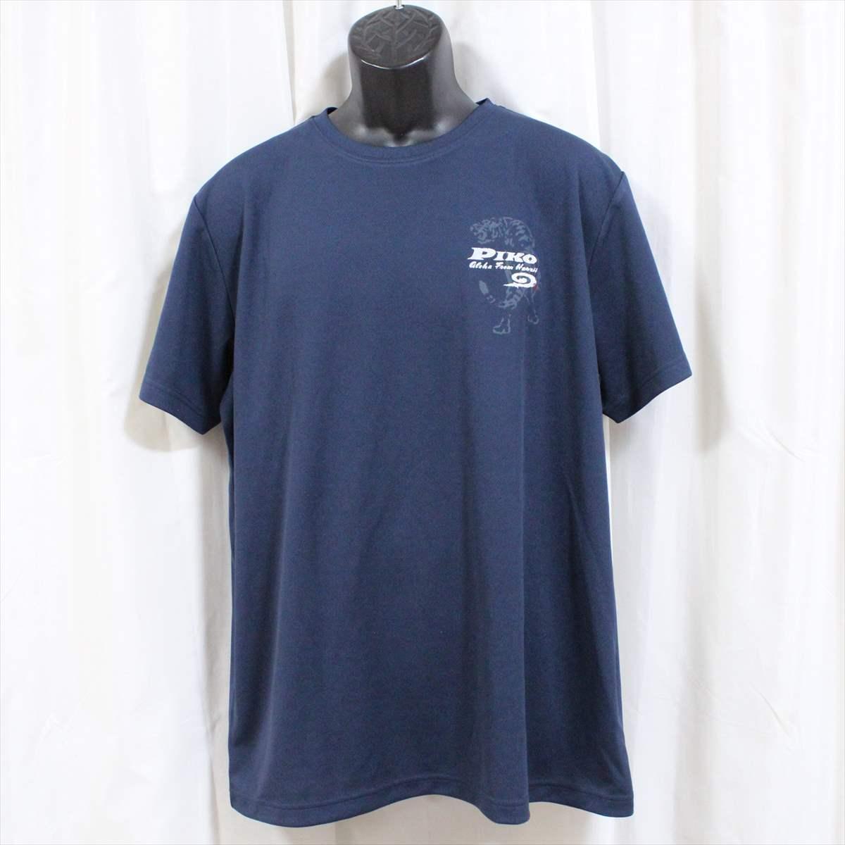 ピコ PIKO メンズ半袖メッシュTシャツ ネイビー XLサイズ 新品 HAWAIIAN LONGBOARD WEAR 紺_画像1