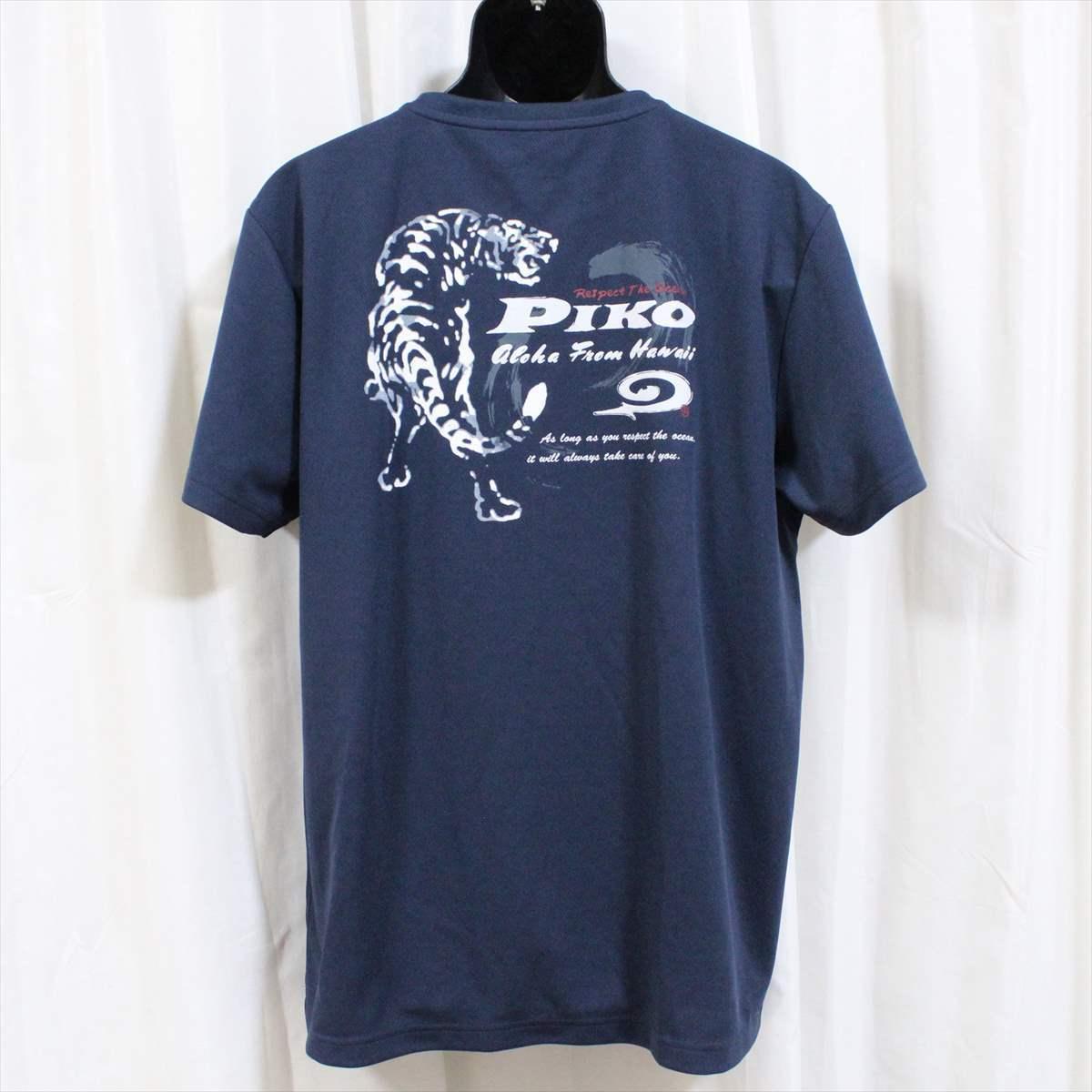 ピコ PIKO メンズ半袖メッシュTシャツ ネイビー XLサイズ 新品 HAWAIIAN LONGBOARD WEAR 紺_画像3
