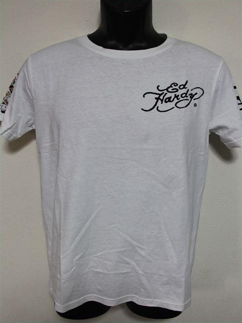 Ed Hardy(エドハーディー) メンズ半袖Tシャツ M02RST950 ホワイト 新品 白 NEW YORK CITY_画像1