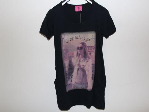 ロックスターズ エンジェルス ROCKSTARS & ANGELS レディース半袖Tシャツ ブラック 海外Sサイズ 新品 黒_画像1