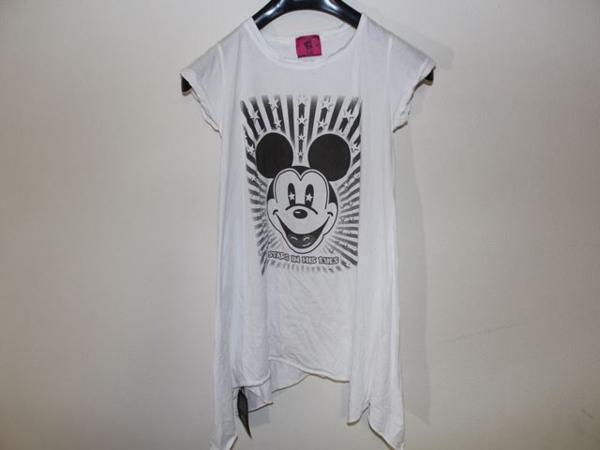 ロックスターズ エンジェルス ROCKSTARS & ANGELS レディース 半袖 オーバー Tシャツ ホワイト 海外XSサイズ 新品 白_画像1