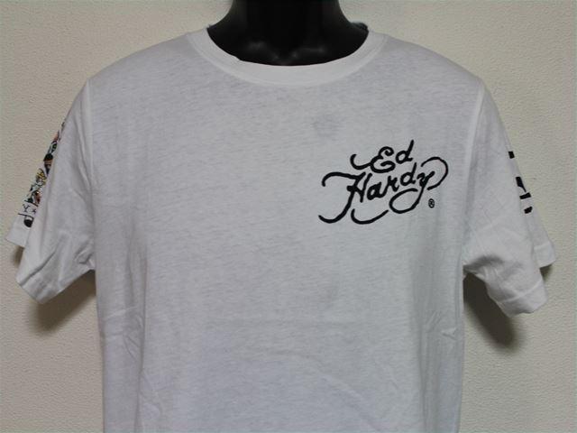 Ed Hardy(エドハーディー) メンズ半袖Tシャツ M02RST950 ホワイト 新品 白 NEW YORK CITY_画像2