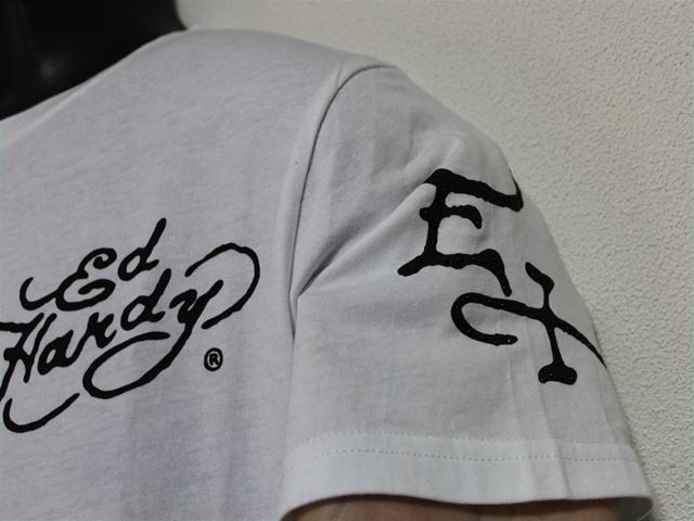 Ed Hardy(エドハーディー) メンズ半袖Tシャツ M02RST950 ホワイト 新品 白 NEW YORK CITY_画像4