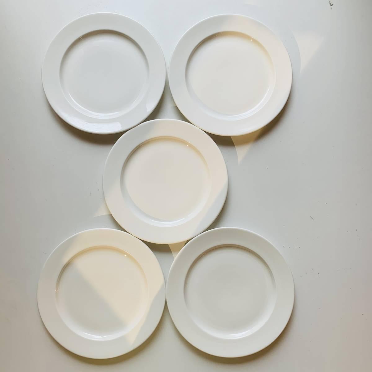 リッツカールトン御用達 19cm 皿 ロイヤルボーンチャイナ 5枚セット売り レストラン・ホテル使用 royal bone china 大阪発 多数有_画像3
