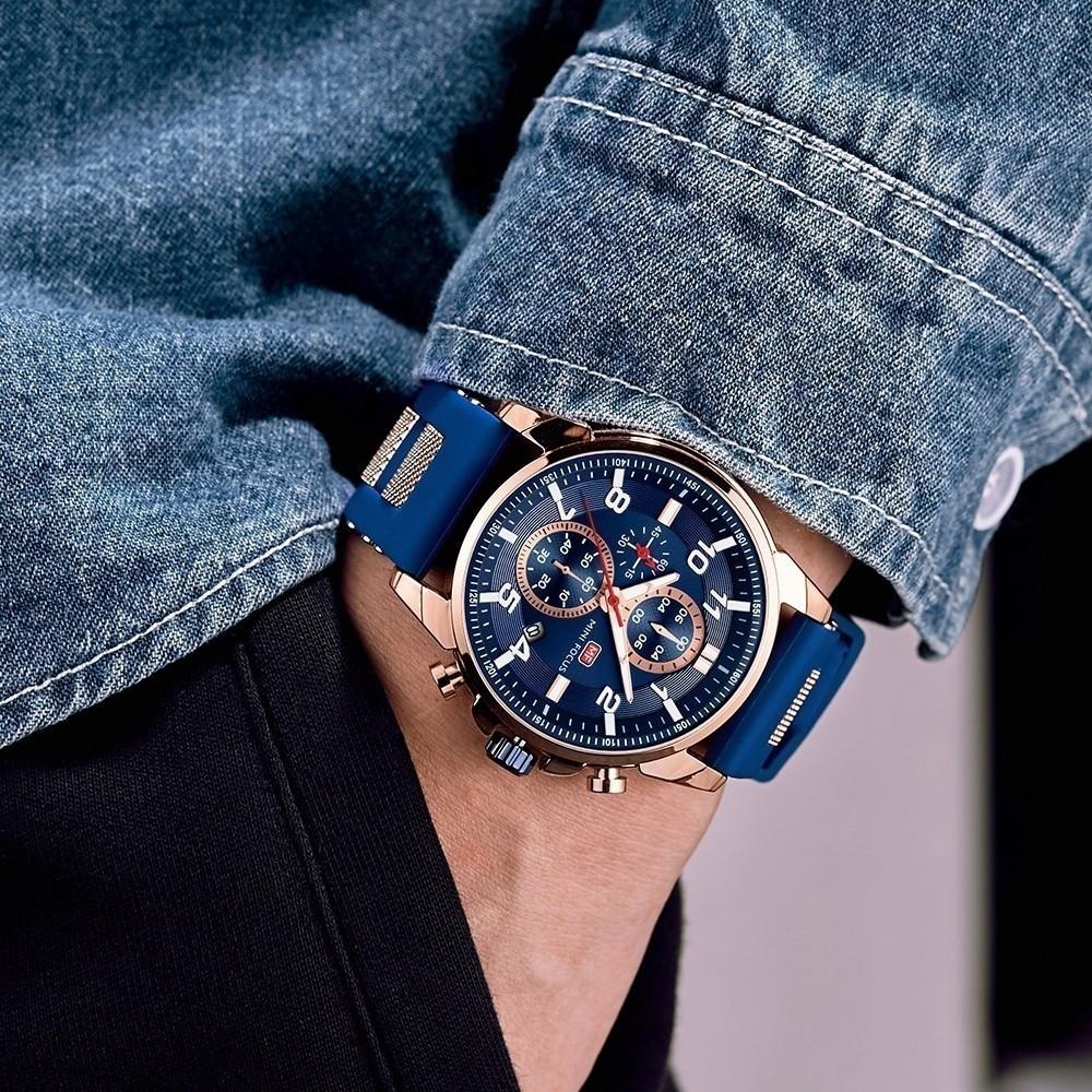高級 メンズ 腕時計 男性 スポーツウォッチ 多機能 日付 夜光 防水 ビジネス カジュアル 5色選択可 h438_画像3