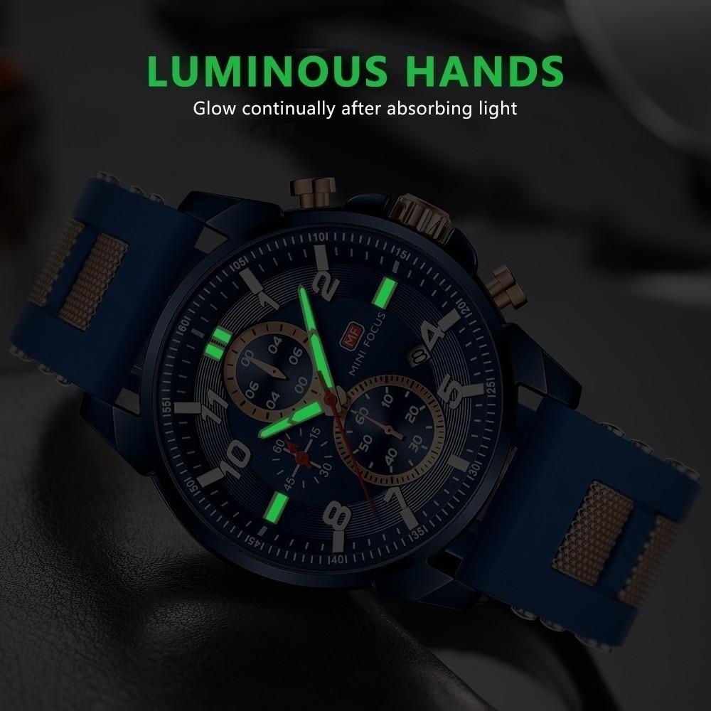 高級 メンズ 腕時計 男性 スポーツウォッチ 多機能 日付 夜光 防水 ビジネス カジュアル 5色選択可 h438_画像5