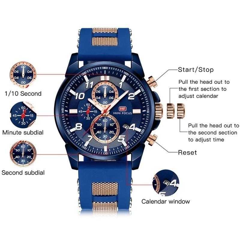 高級 メンズ 腕時計 男性 スポーツウォッチ 多機能 日付 夜光 防水 ビジネス カジュアル 5色選択可 h438_画像4