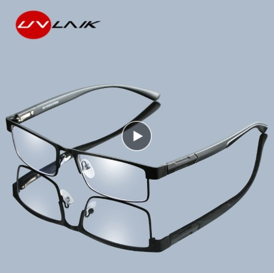Pn140:メンズ チタン 合金 老眼鏡 非球形 12層 コーティング レトロ ビジネス 遠視 処方 眼鏡_画像1