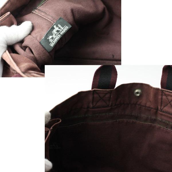 HERMES エルメス フールトゥMM キャンバス トートバッグ ハンドバッグ 手提げかばん 訳あり 21-0423bu05_画像6