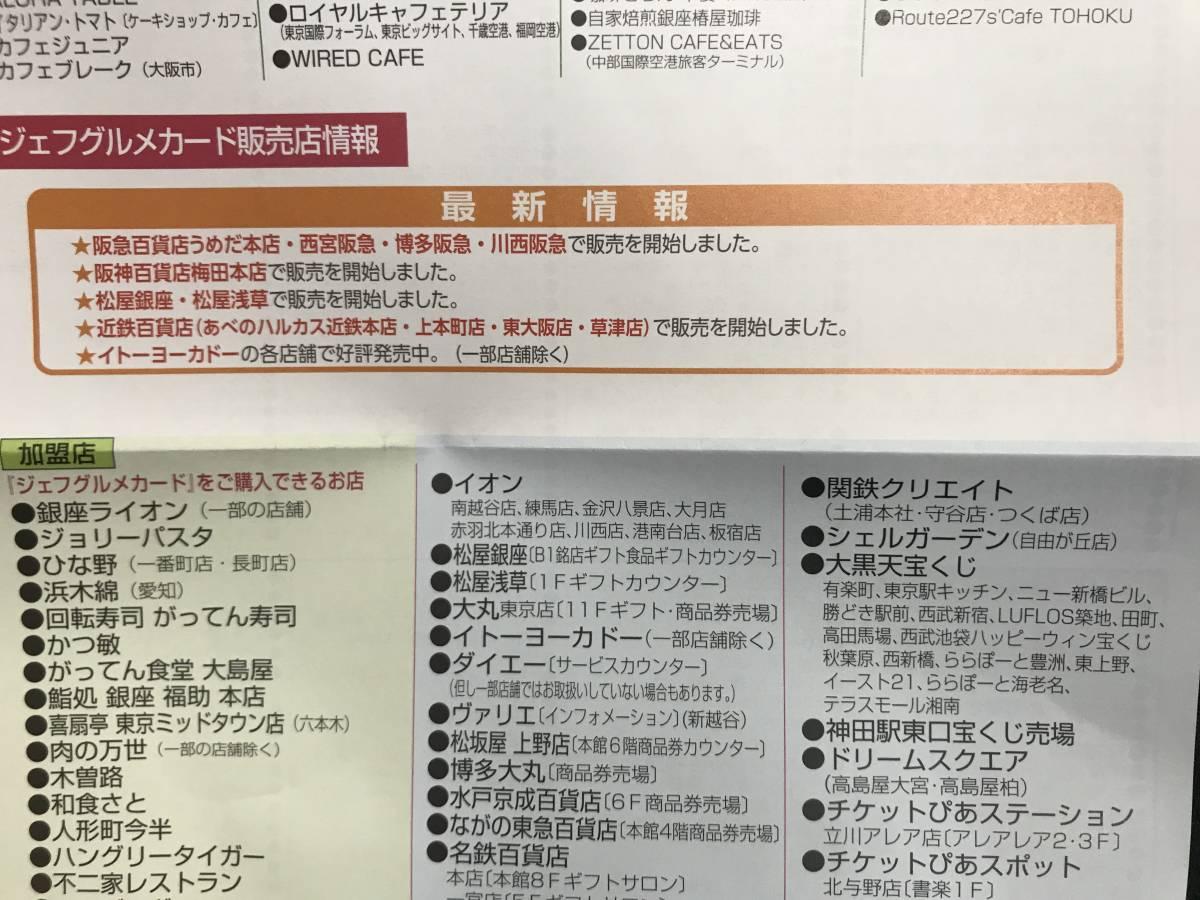 04-023 ジェフグルメカード 3000円分 全国共通お食事券_画像6