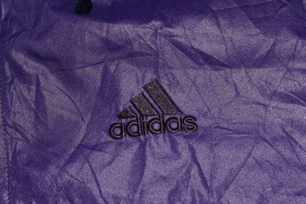☆古着 adidas アディダス ウィンドブレーカー ナイロン パーカー ロゴ刺繍 紫パープル【L】ポリエステル     ◆2965◆_画像5