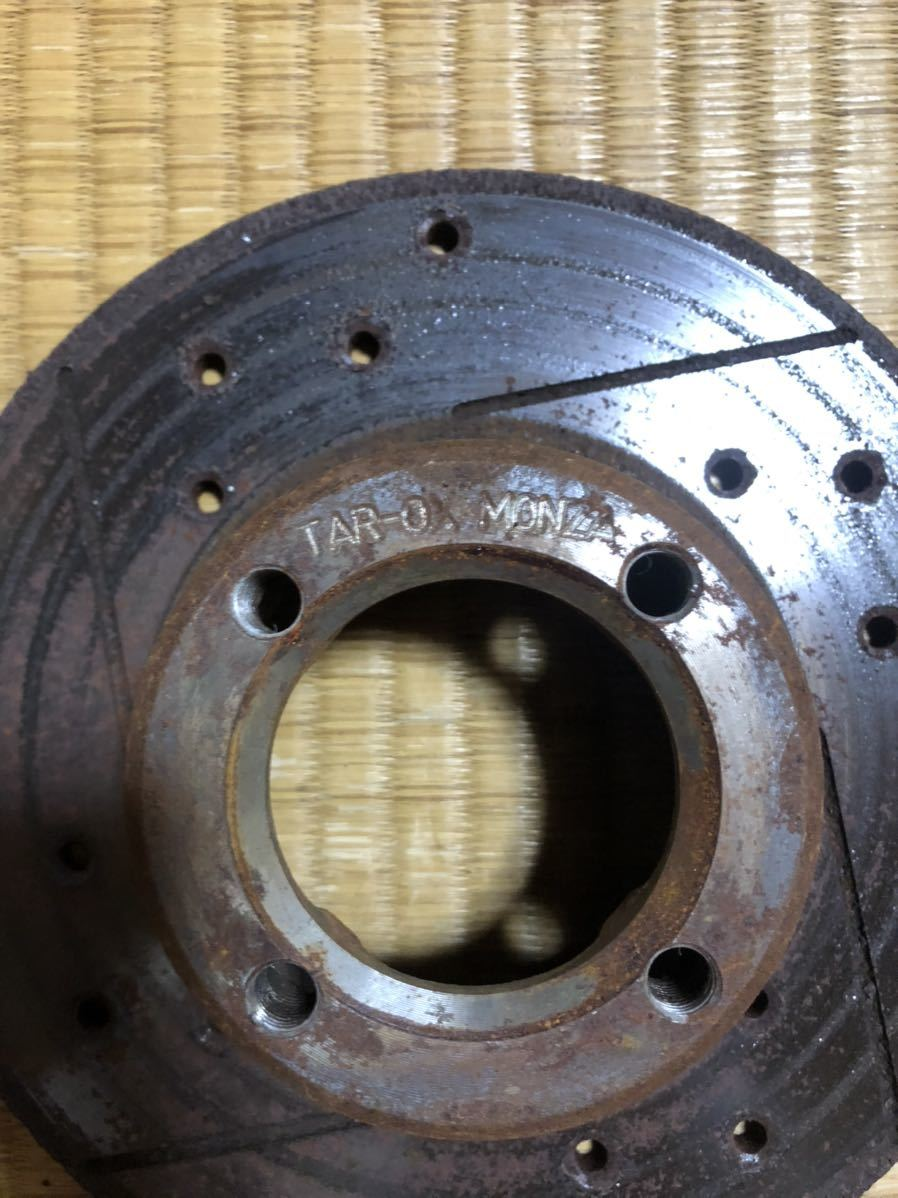 ローバーミニ 用 12インチ ドリルドスロットローター左右セット_画像7