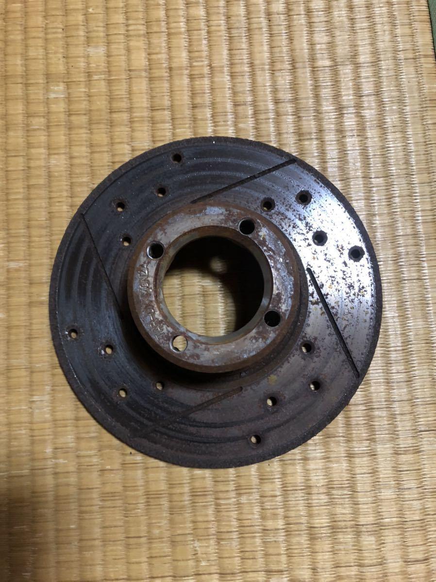 ローバーミニ 用 12インチ ドリルドスロットローター左右セット_画像3