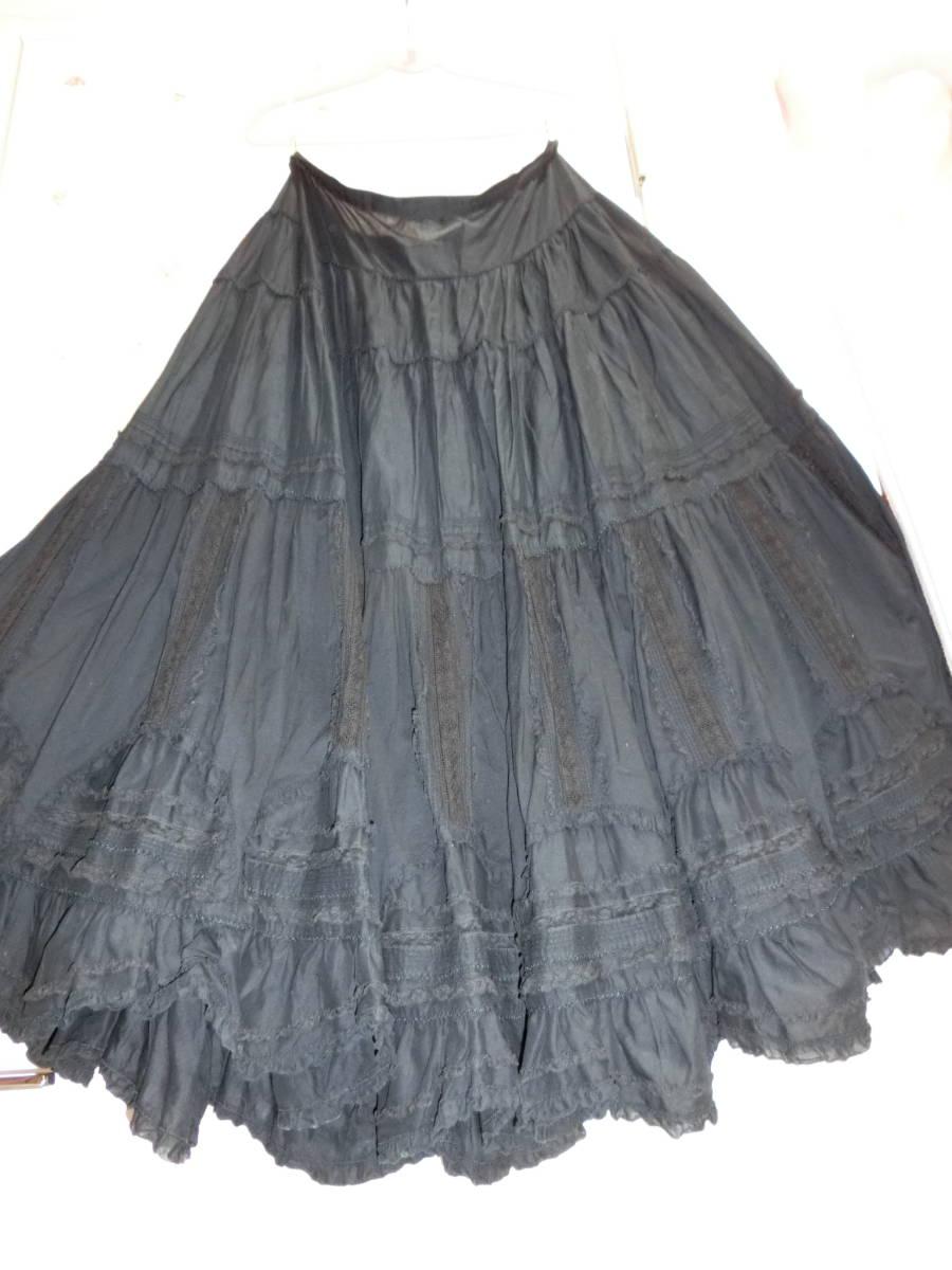 ピンクハウス 黒系 スカート 直しあり
