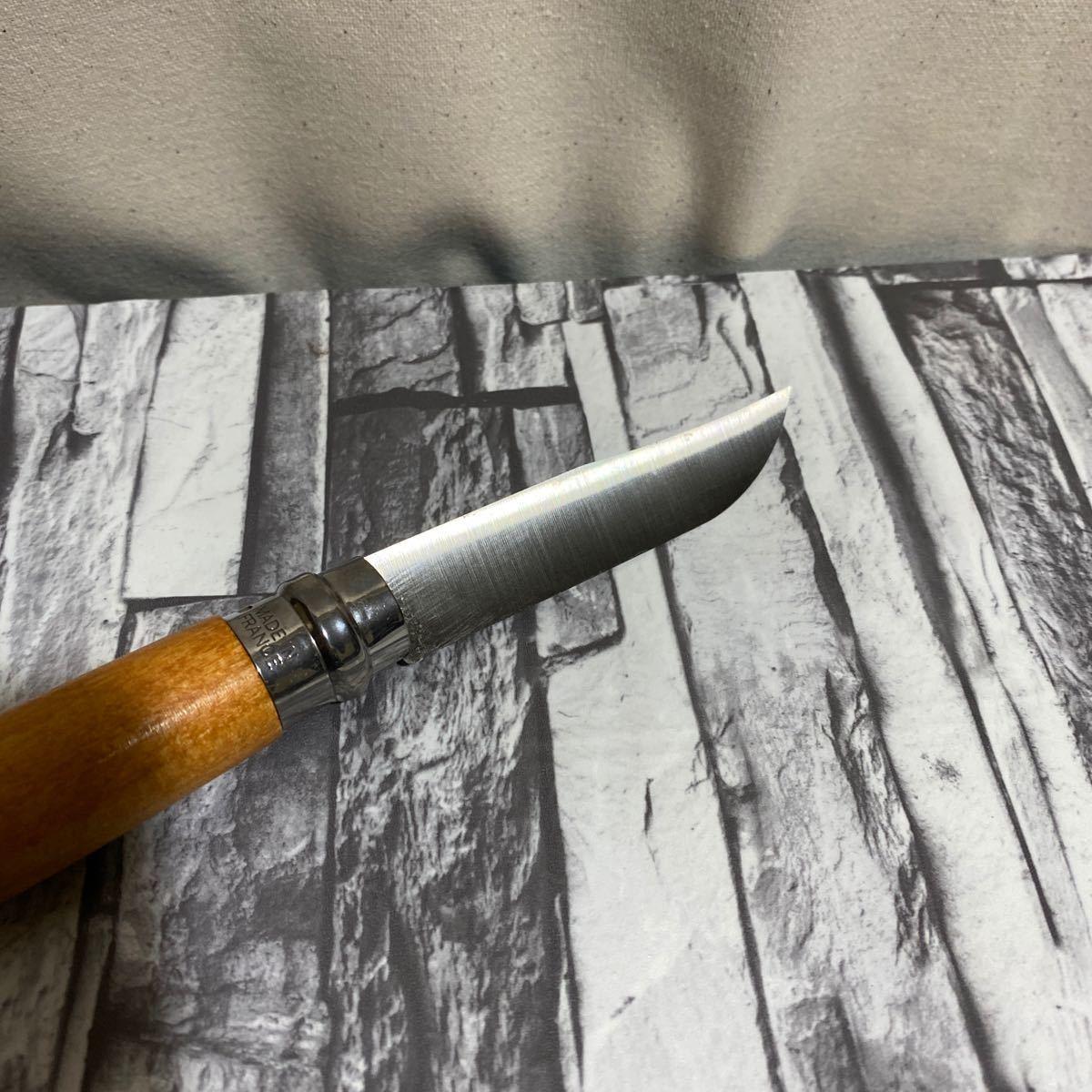 オピネル カーボン8 折りたたみナイフ 新品