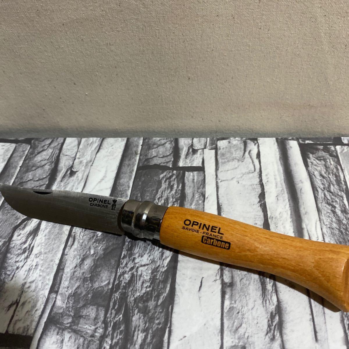 オピネル カーボン9 折りたたみナイフ 新品