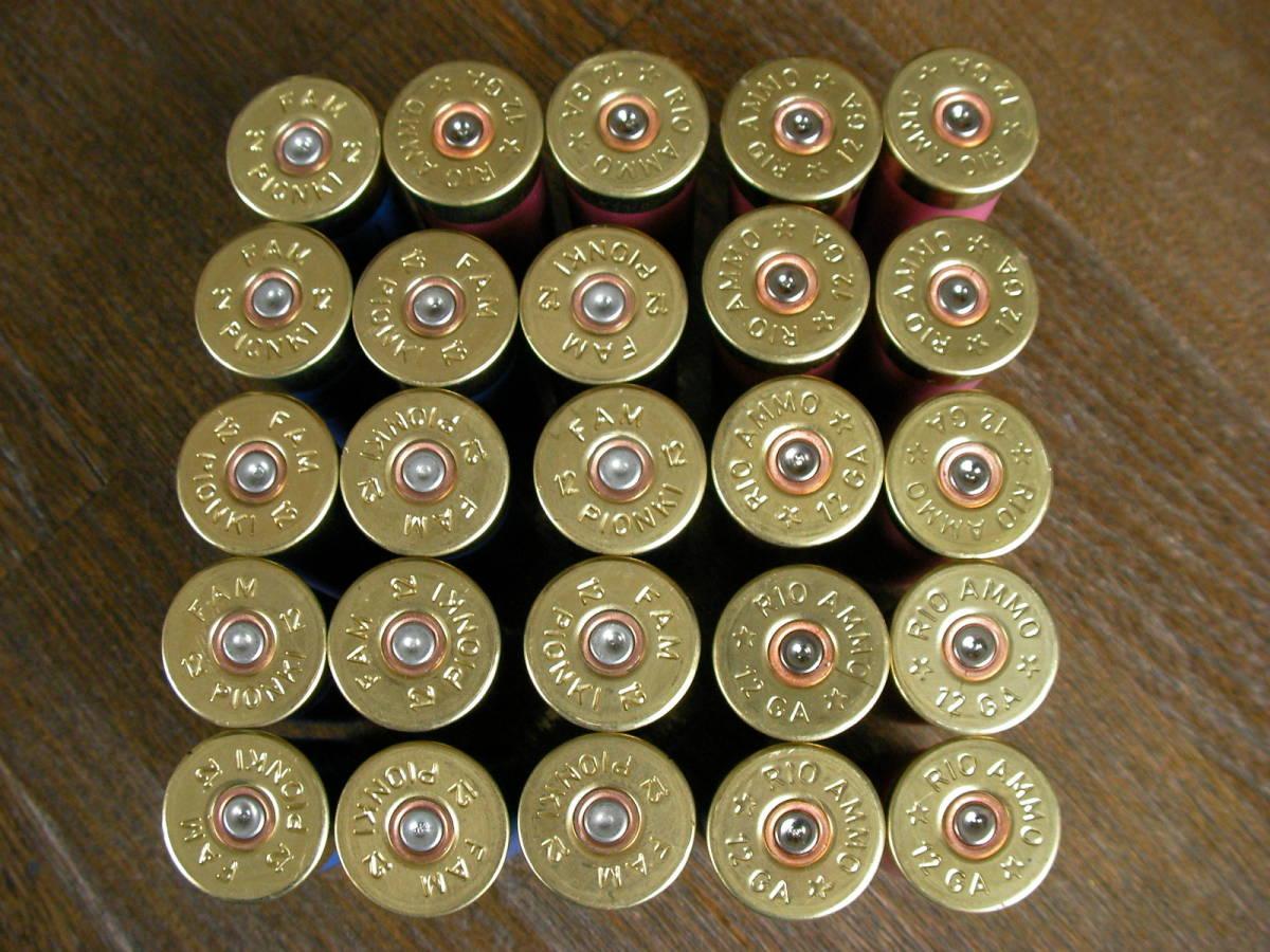 [個人] RIO & FAM  空薬莢 ショットガン ダミーカート 25本セット M870 M1 M3 M4 M24 M700 M40 VSR L96 98K M37 SDV APS _画像4