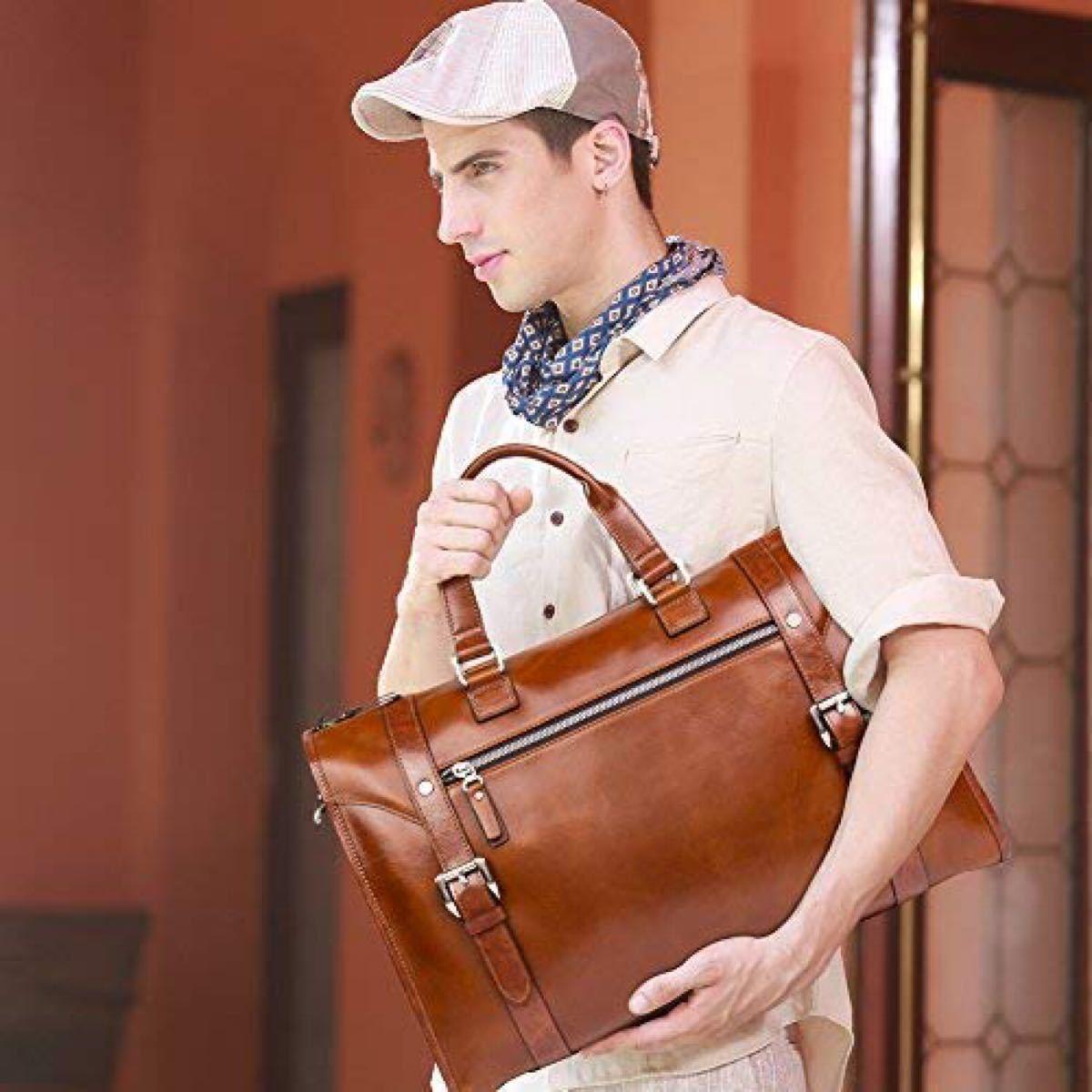 ビジネスバッグ 本革 メンズ ブリーフケース メッセンジャーバッグ 紳士用