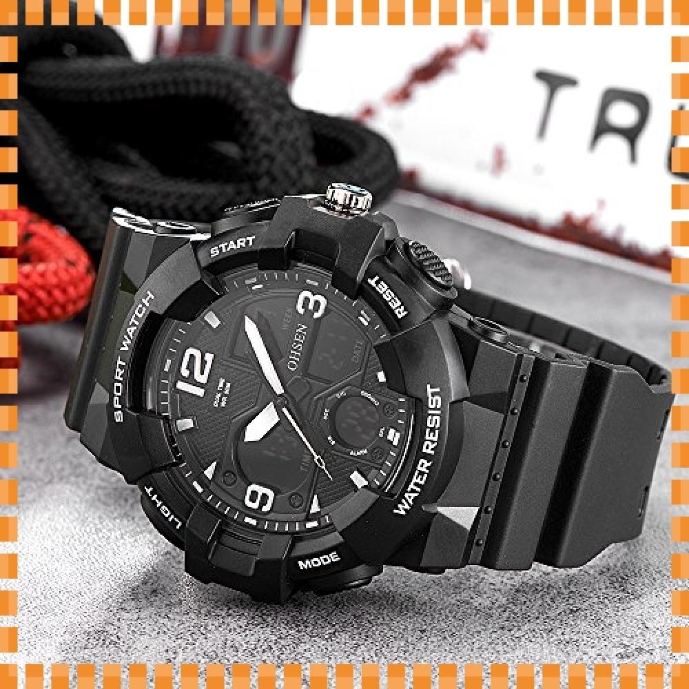 ♪色ブラック デジタル腕時計メンズ ミリタリー アナデジ スポーツウォッチ アラーム ストップウォッチ 曜日 日付表示 多_画像3