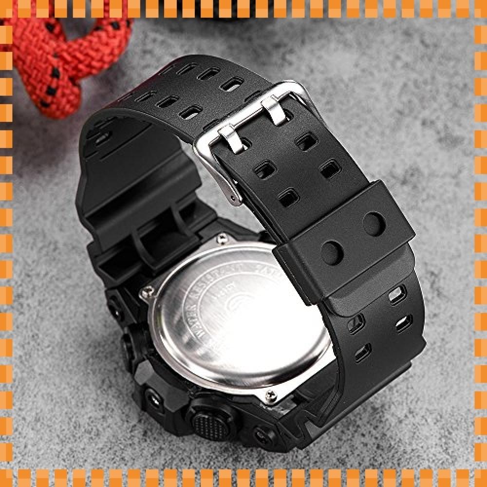 ♪色ブラック デジタル腕時計メンズ ミリタリー アナデジ スポーツウォッチ アラーム ストップウォッチ 曜日 日付表示 多_画像5