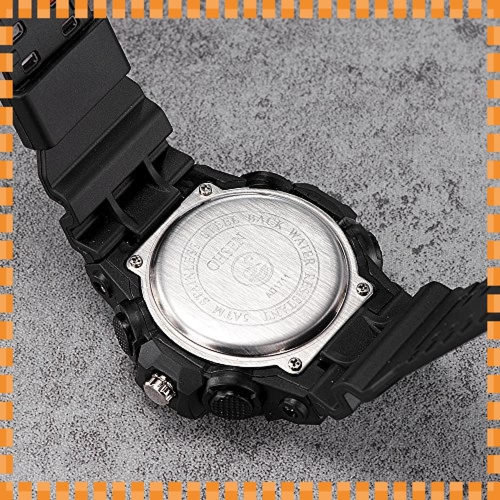 ♪色ブラック デジタル腕時計メンズ ミリタリー アナデジ スポーツウォッチ アラーム ストップウォッチ 曜日 日付表示 多_画像6