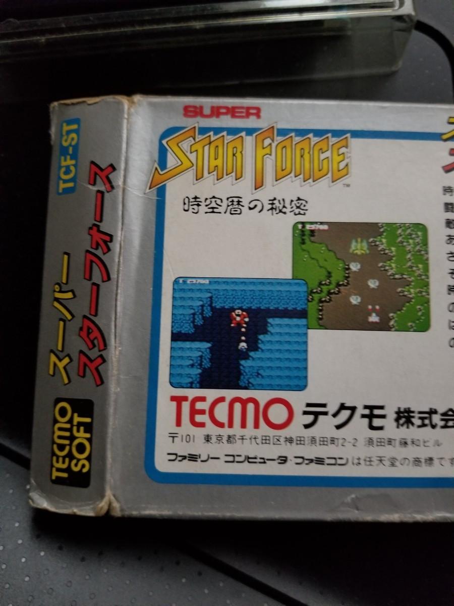 ファミコンソフトスーパースターフォースTECMO。箱説明書付き。
