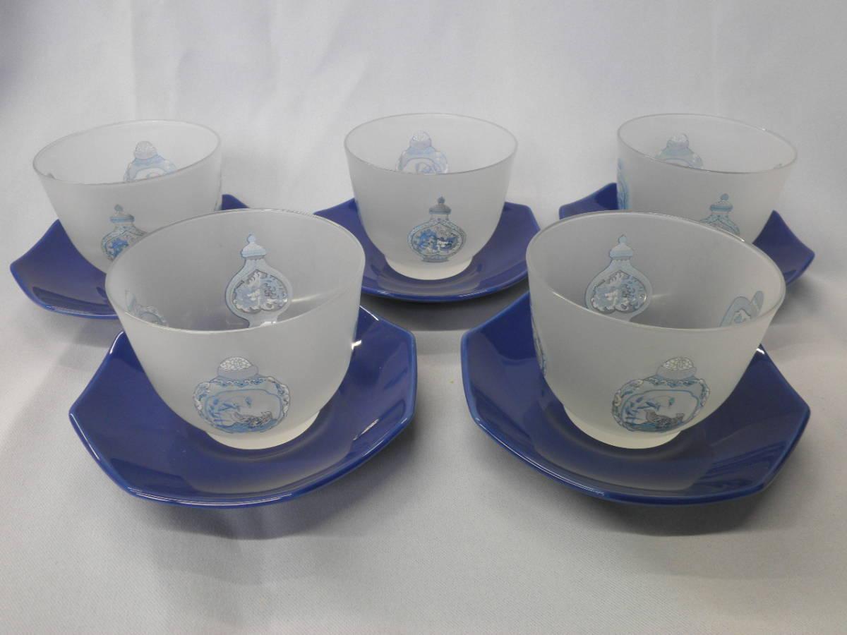 チャイナシーズ チャイニーズボトル 冷茶揃 冷茶碗と茶托 5客 前畑陶器