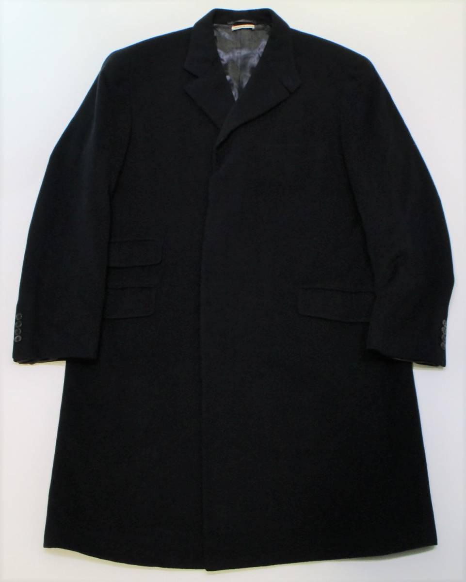 良品 HERMES エルメス カシミヤ 100% チェスター コート 52 ネイビー チェンジポケット イタリア製 正規品 YB