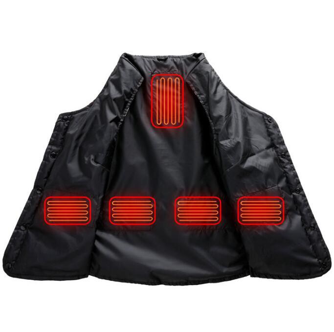 電熱ベスト 花 USB加熱ベスト 防寒着 袖無し 電熱ウェア 5エリア発熱 ヒーターベスト 3段温度調整 水洗い可能 秋冬用 女 サイズ3XL frf-16_画像8