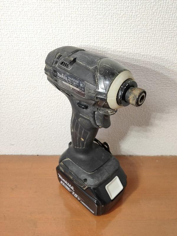 【電動工具】マキタ インパクトドライバ (バッテリー・充電器・ケース付) ブラック TD149DRFXB(TD149D) 軸ブレ、モータ異音無 動作確認済_画像3