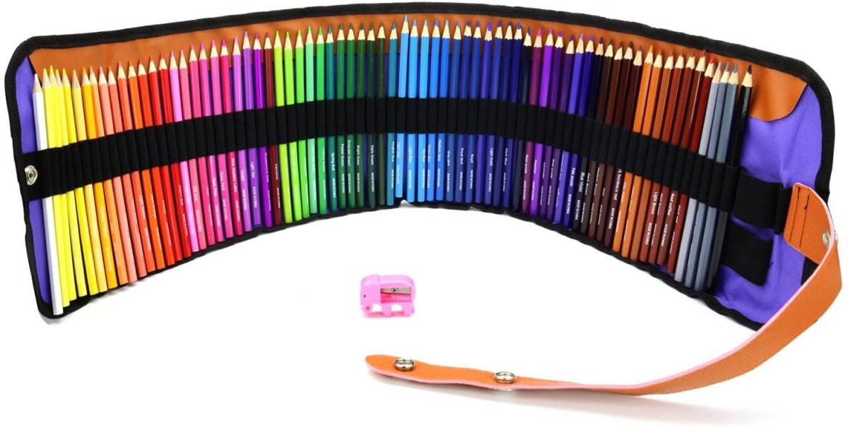 MEGICOT 色鉛筆 72色 油性色鉛筆 塗り絵 描き用 収納ケース付き 鉛筆削り付き 携帯便利_画像1