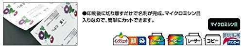 アイボリー コクヨ マルチプリンタ用 名刺用紙 A4 100枚 KPC-VEA15LY_画像2