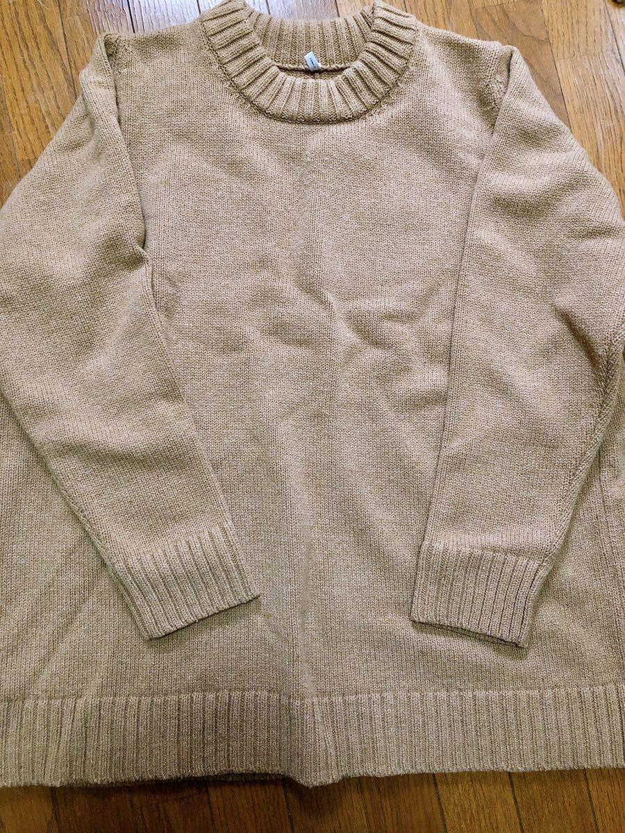 FIRMUM Super 100Mule Tweed Wool Big Knit Mサイズ表記( XLサイズ相当)_画像1
