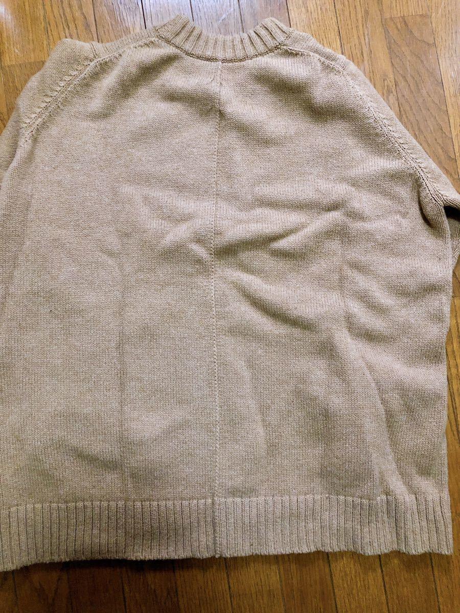 FIRMUM Super 100Mule Tweed Wool Big Knit Mサイズ表記( XLサイズ相当)_画像2