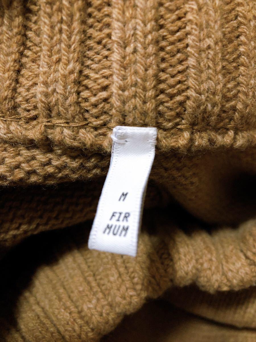 FIRMUM Super 100Mule Tweed Wool Big Knit Mサイズ表記( XLサイズ相当)_画像3
