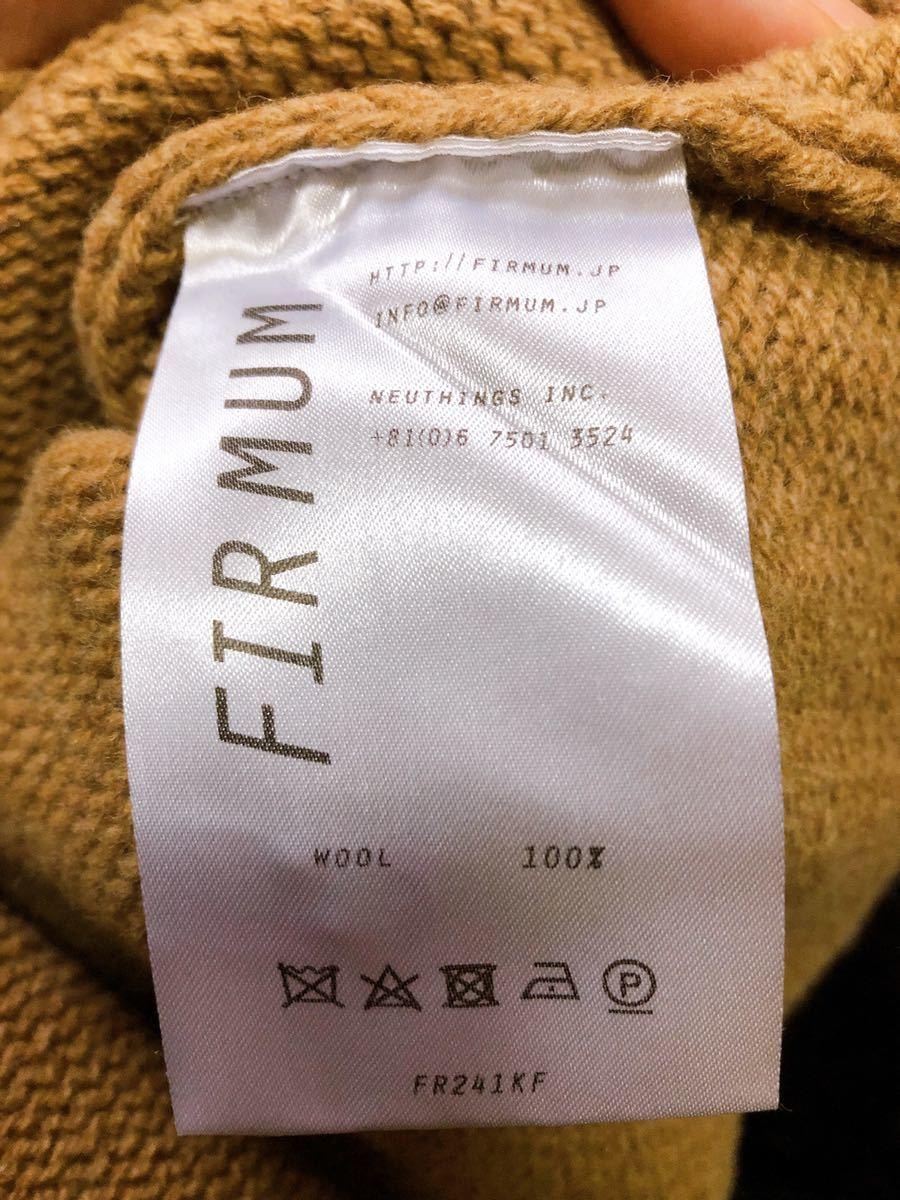 FIRMUM Super 100Mule Tweed Wool Big Knit Mサイズ表記( XLサイズ相当)_画像4
