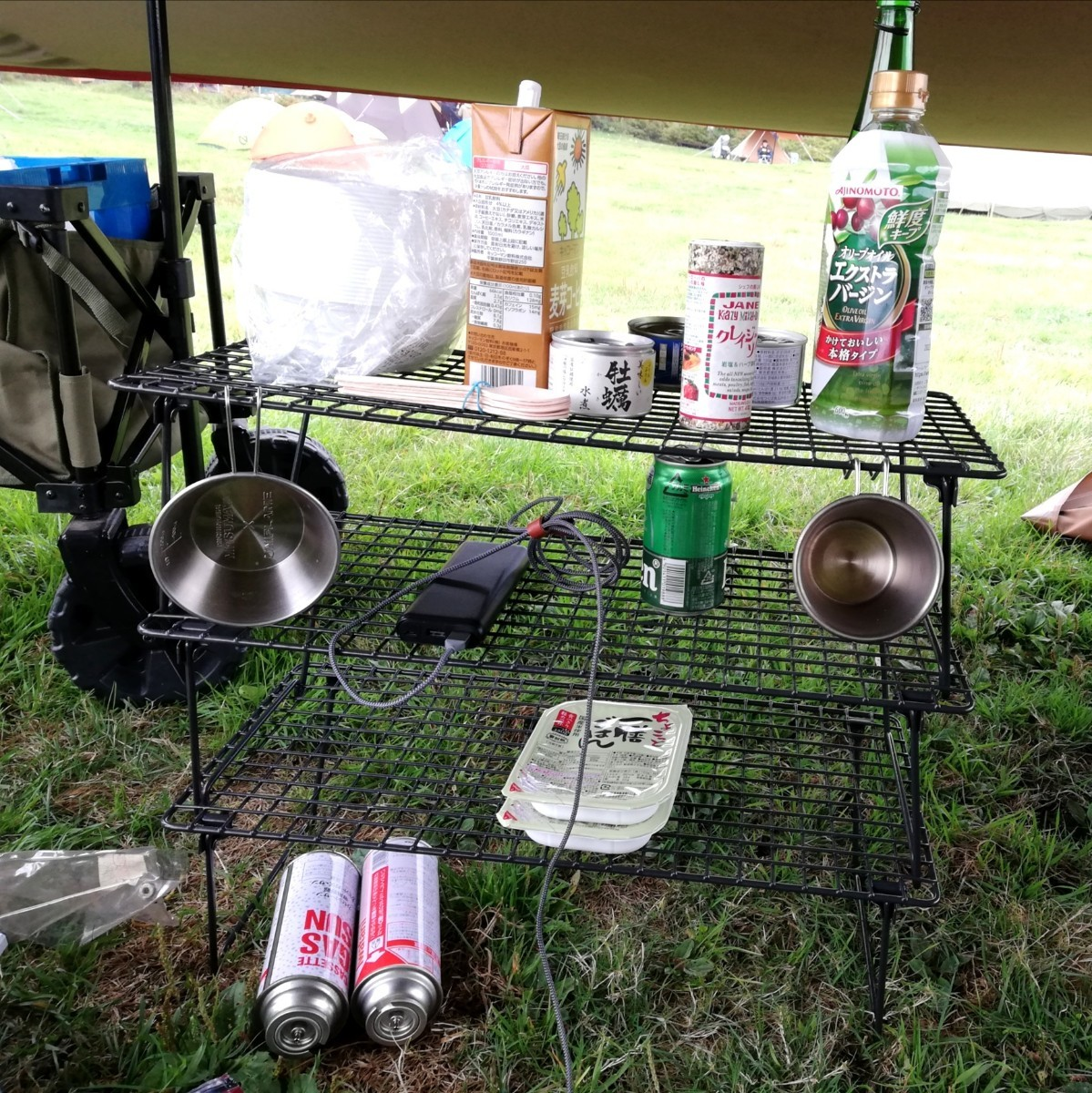 スタッキングラック 3個 キャンプ アウトドア スチールラック フィールドラック アイアンラック ユニフレーム UNIFLAME
