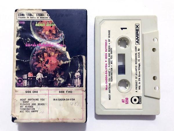 70s スナップケース■カセットテープ■アイアン・バタフライ Iron Butterfly『In-A-Gadda-Da-Vida』AMPEX■同梱8本まで送料198円