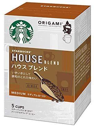 ▽★■ネスレ日本 スターバックス オリガミ パーソナルドリップ コーヒー ハウス ブレンド (9g×5袋)&time_画像1