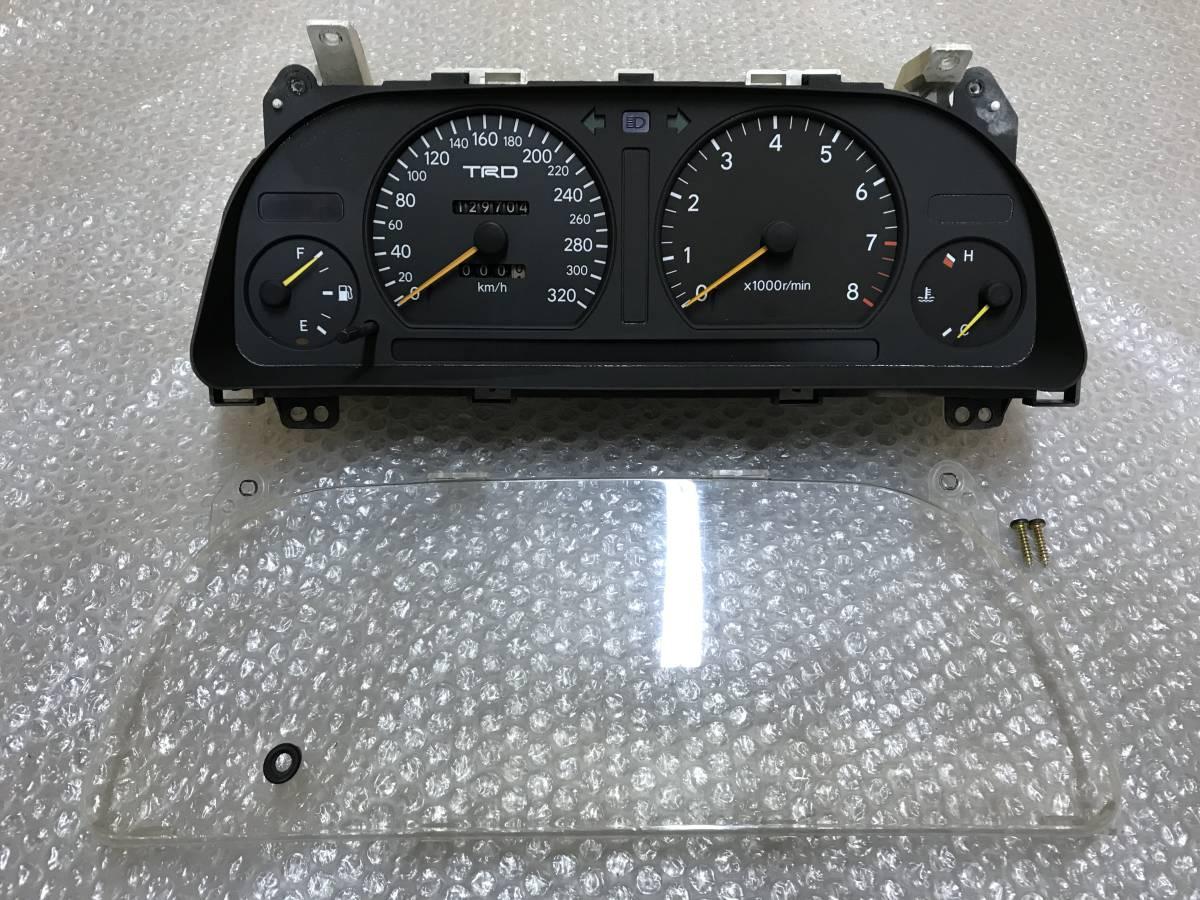 ☆絶版品☆ TOYOTA トヨタ JZX90 90 マークⅡ クレスタ チェイサー TRD 320k フルスケール スピードメーター メーター 5速 MT 1JZ 5MT GX90