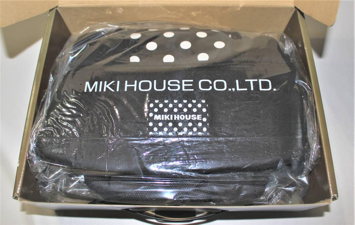 新品本物即決 日本製 ミキハウス MIKI HOUSE ベビーキャリー インナーパッド 出産準備セット 対面抱っこ紐おんぶ紐 45-6007-840黒_画像4