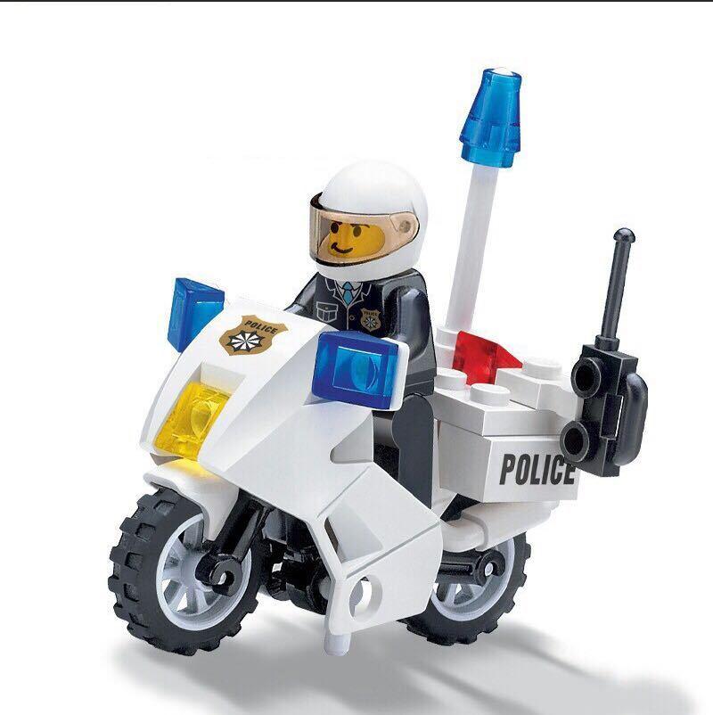 1体 警察 バイク 白バイ ミニフィグ LEGO 互換 ブロック ミニフィギュア レゴ 互換 q_画像1