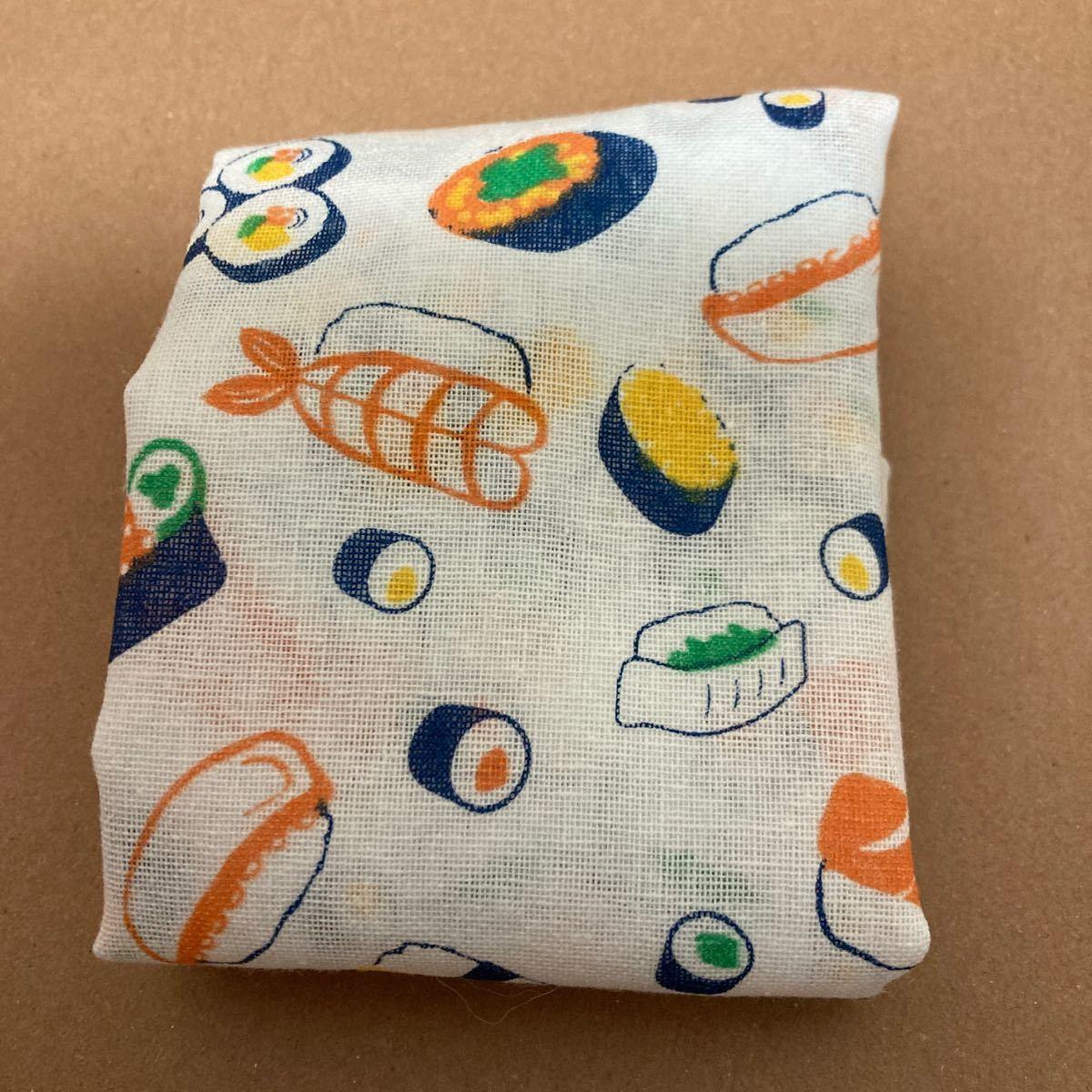 ハンドメイド  エコバッグ  綿 寿司
