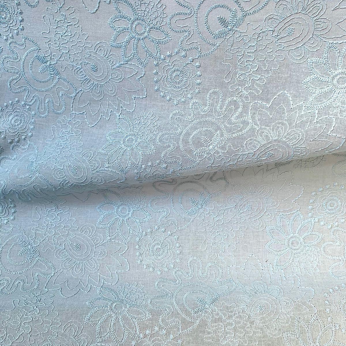 コットンレース 綿 刺繍生地 はぎれセット 花柄 ハンドメイド 布 ハギレ