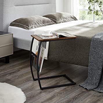 ヴィンテージ EKNITEY サイドテーブル ソファ ナイトテーブル コ字型 広い天板 パソコン コーヒーテーブル 多機能 省ス_画像5