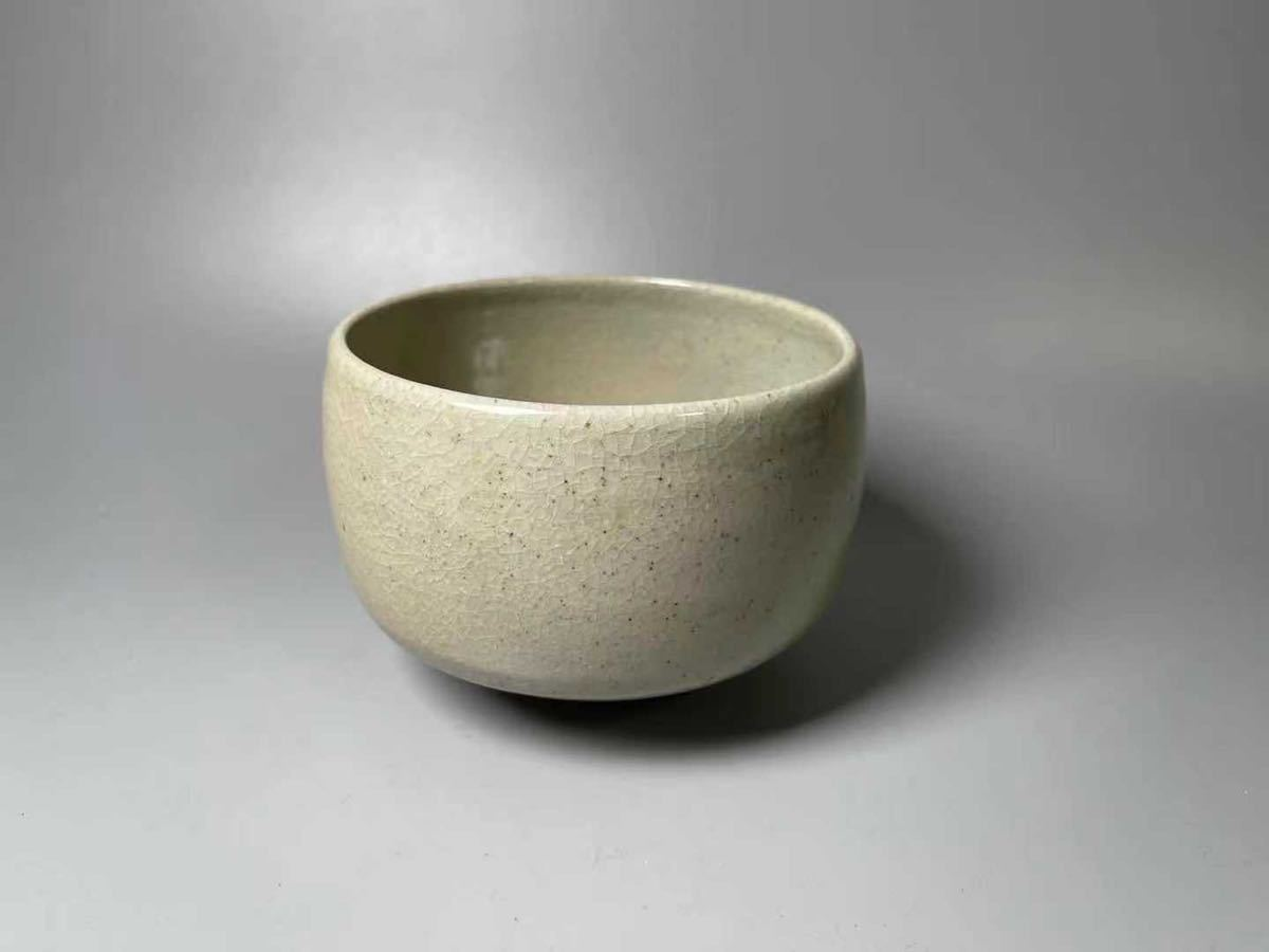 芦沢保親 因久山焼茶碗 サイズ約11.6×h8.3cm 共箱 茶道具 本物保証 茶器